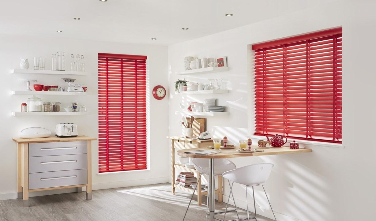 Kitchen Red Blinds Home Design Image Gallery On Pertaining To Size 1228 X 722