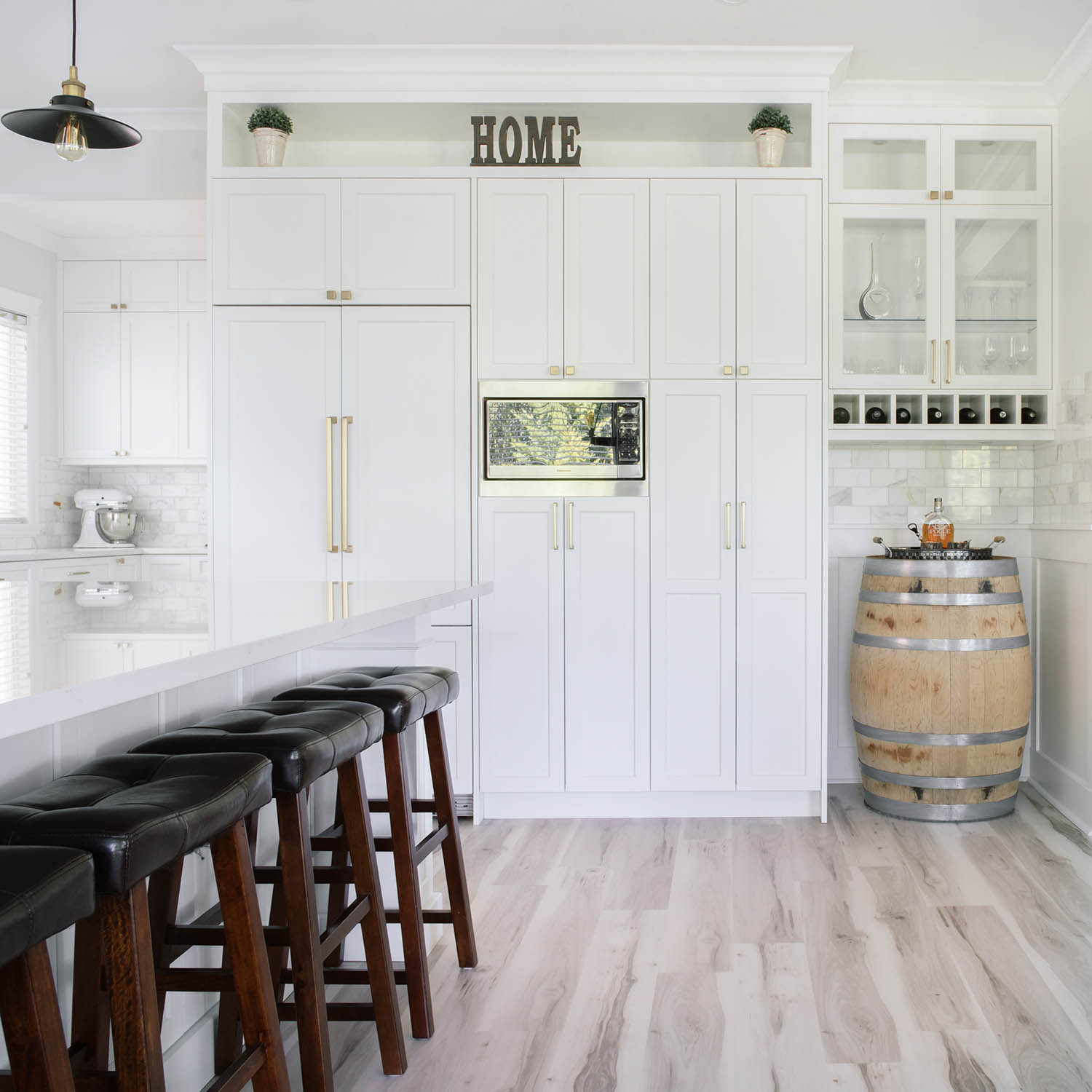 kitchen renovation with wine bar