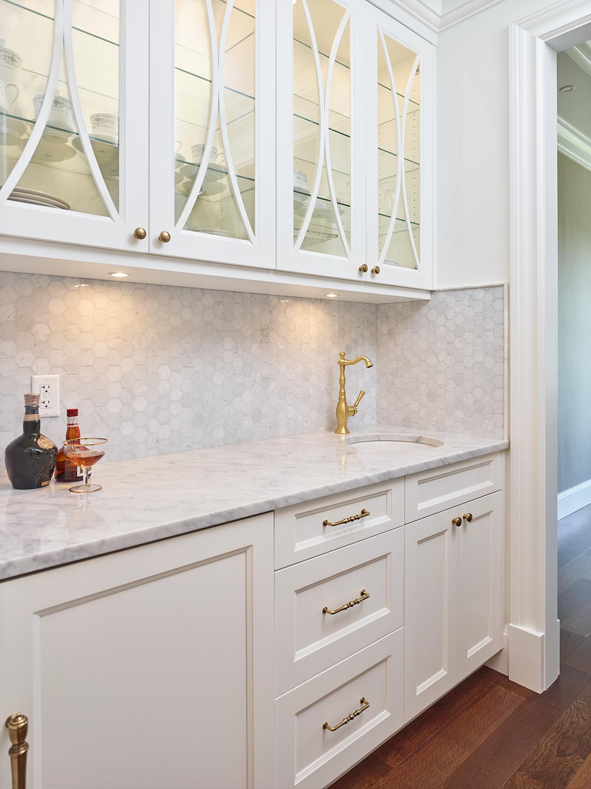 butler pantry with wet bar