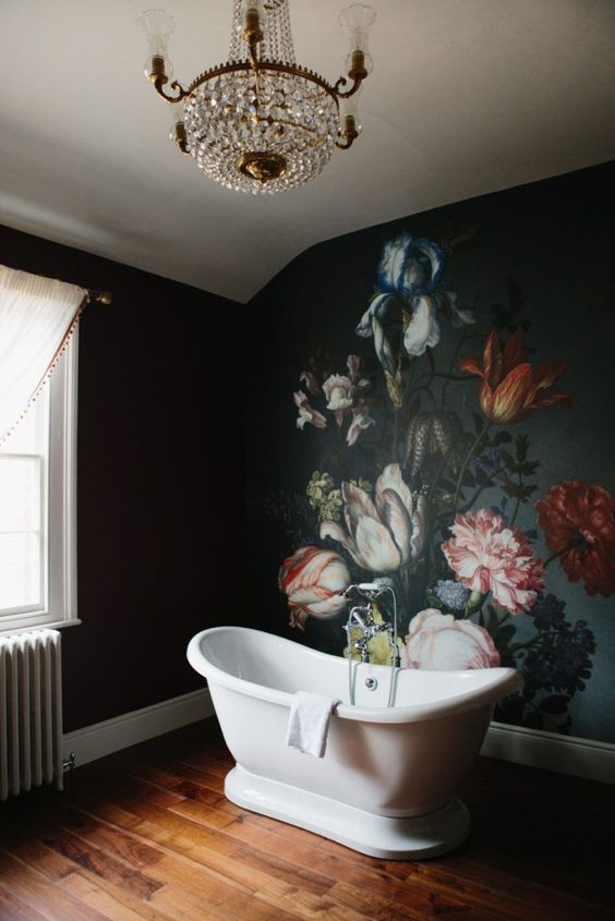 Get Enlightened by these Dark Bathrooms
