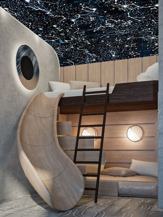 children's room futuristic space theme