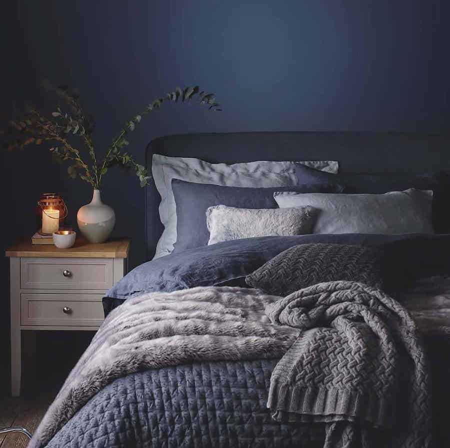 Classic Blue bedroom walls and bedding