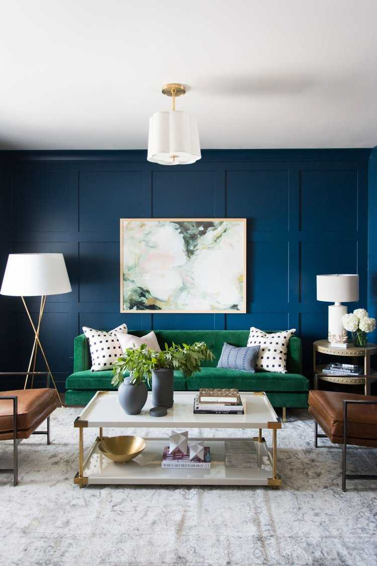 Classic Blue painted living room