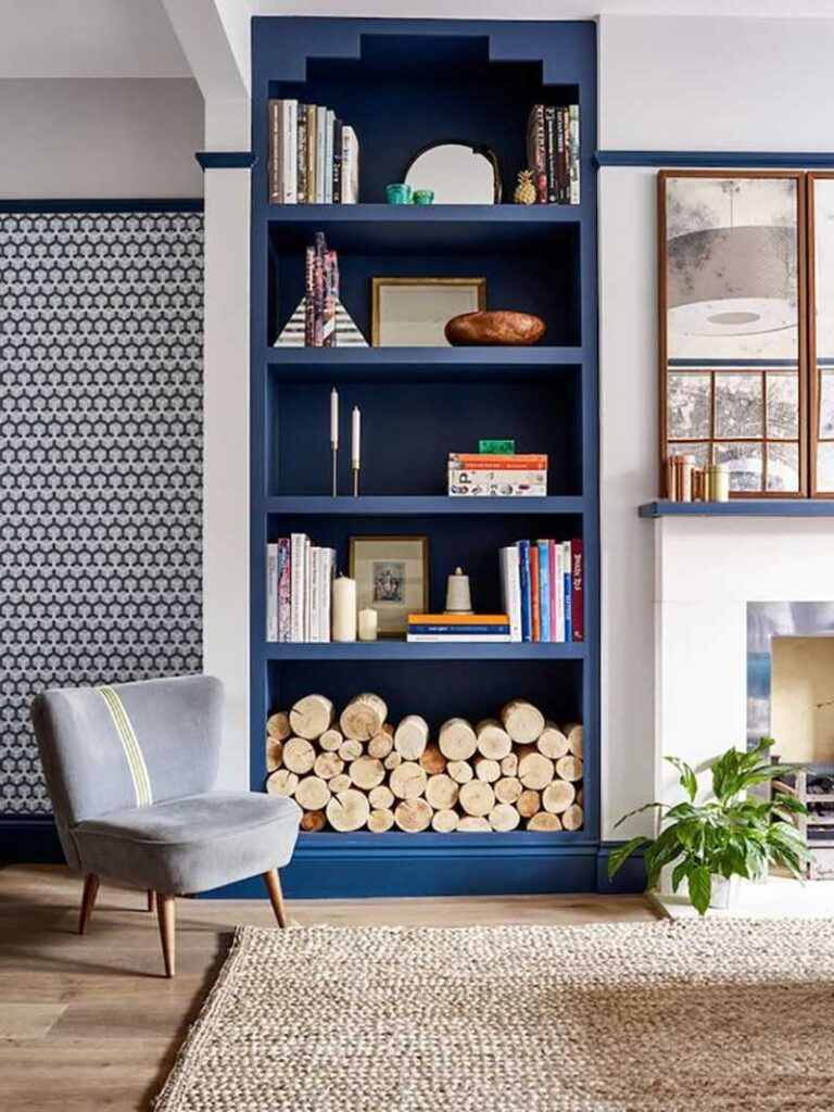 Classic Blue pianted bookcase