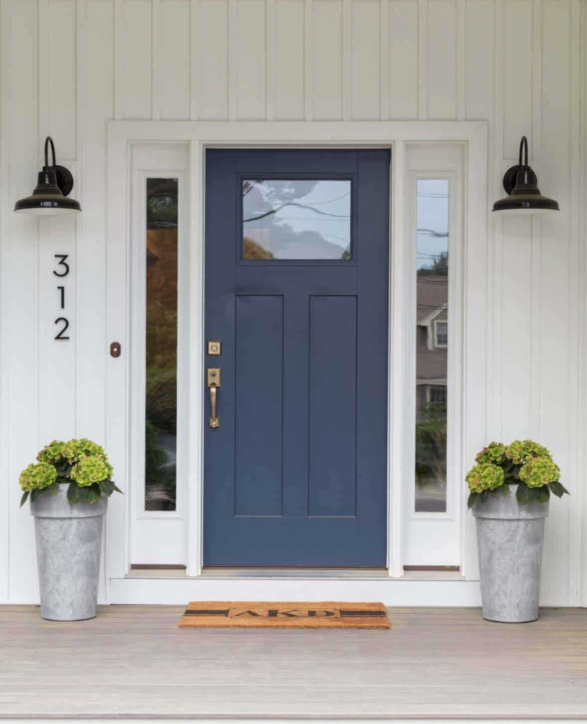 Classic Blue front door