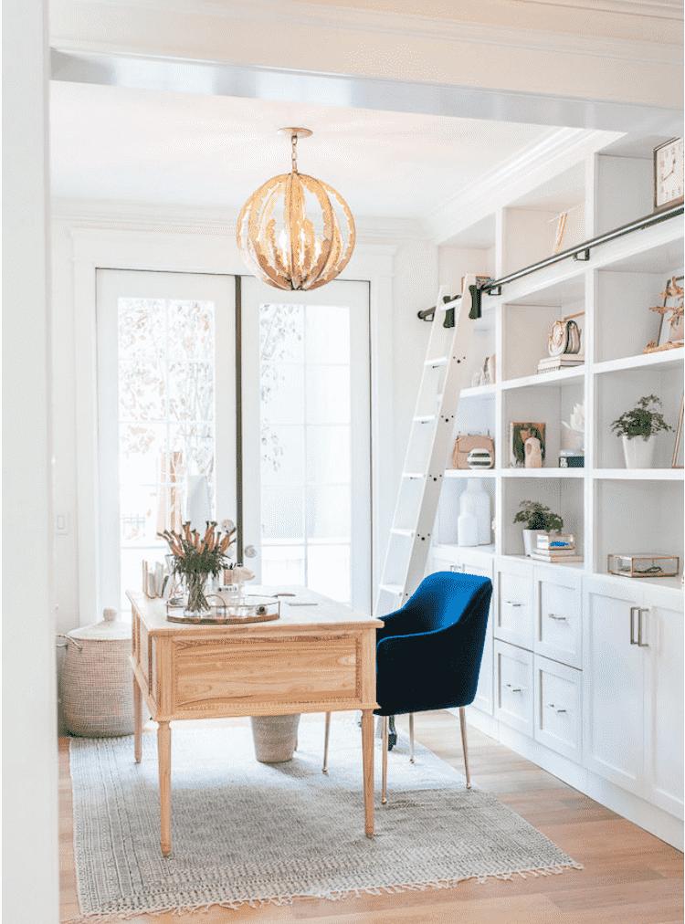 Classic blue velvet chair