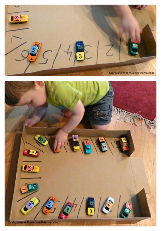 easy toddler activity: cardboard toy