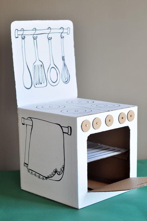 indoor activities toddler : cardboard toys