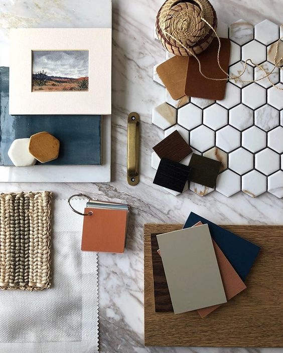 moodboard by interior designer Alison Giese