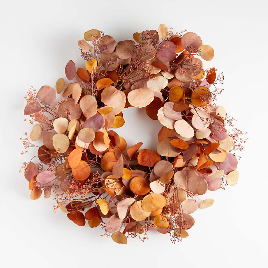 fall wreath with eucalyptus