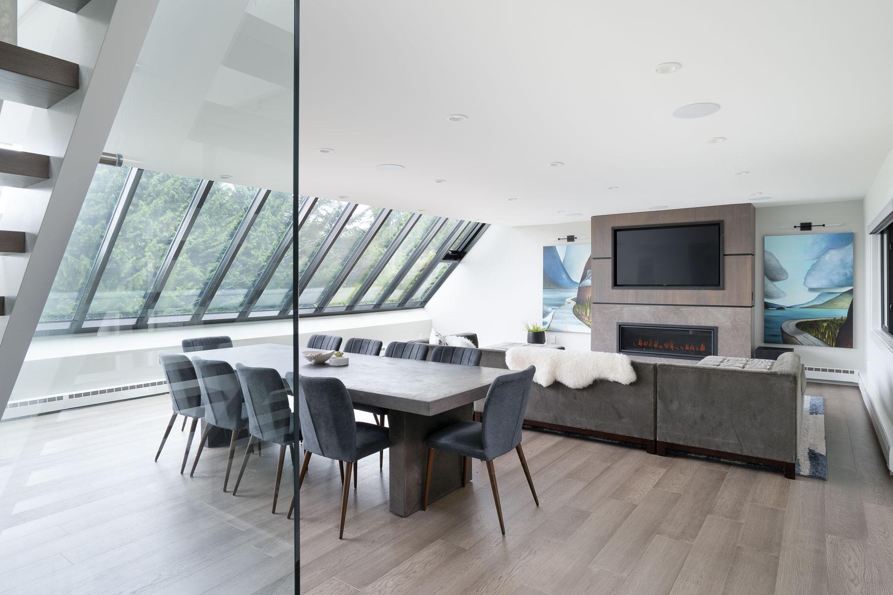 West Van remodel combined living-dining