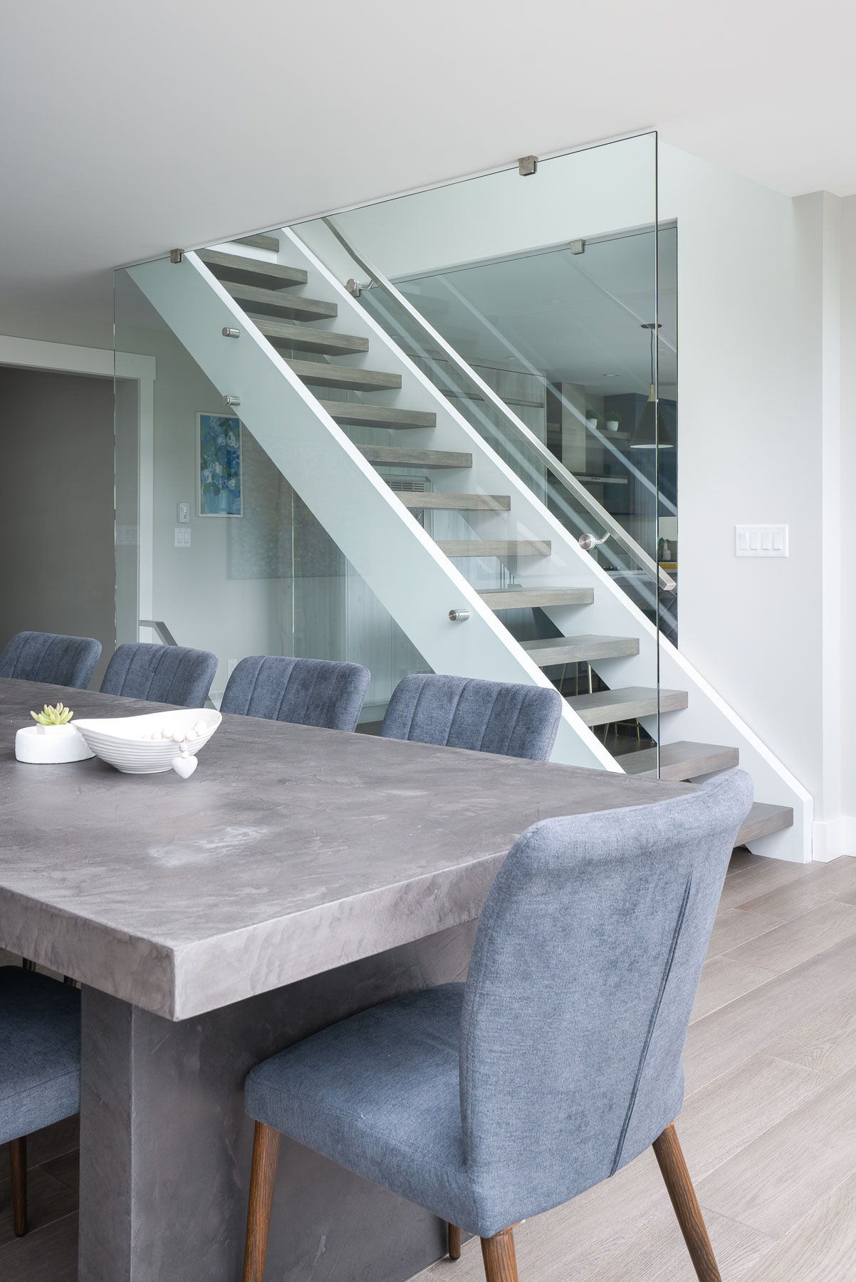 West Van remodel floating staircase