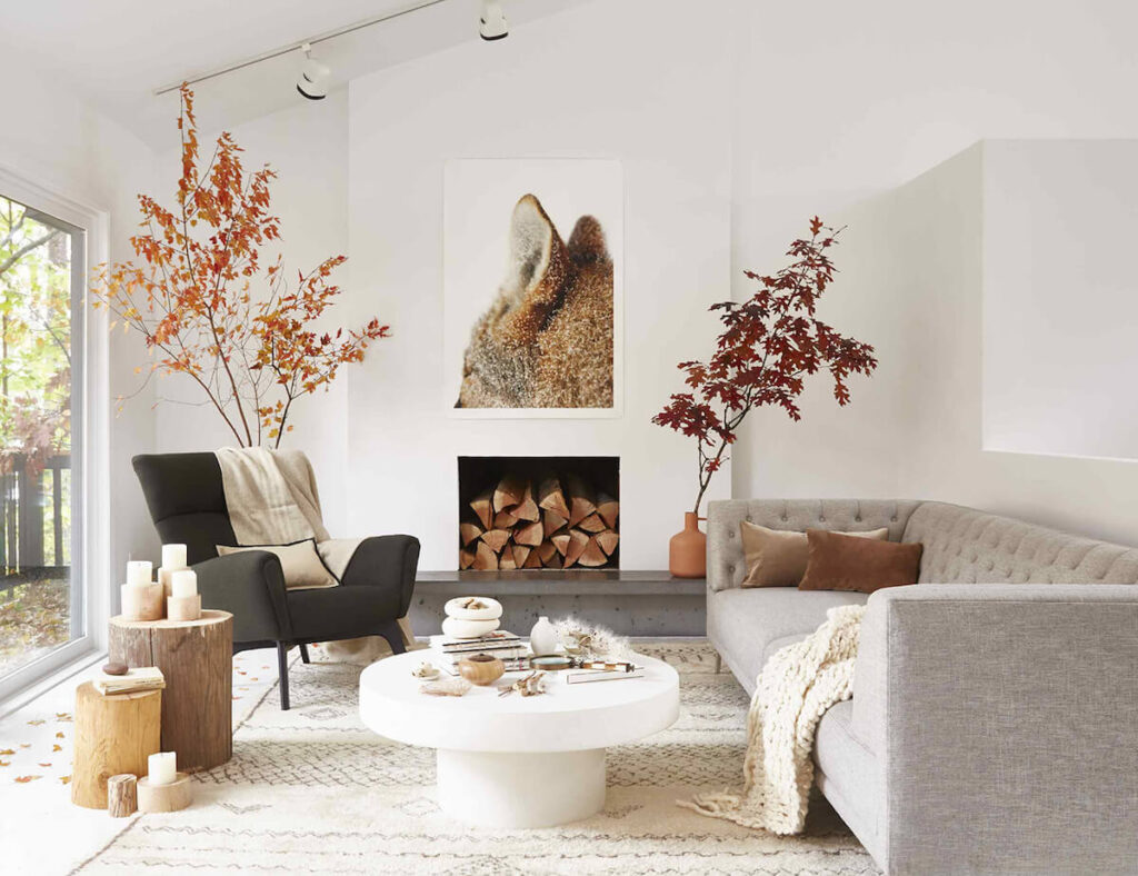 fall decor ideas for living room