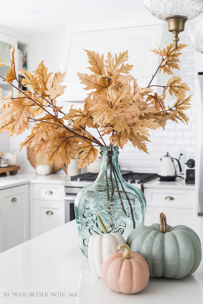fall decor in kitchen
