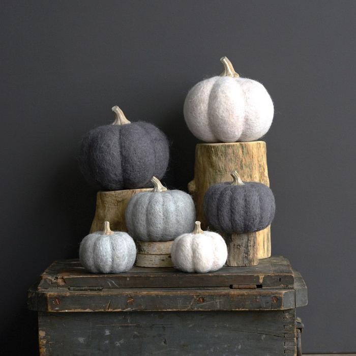 felt pumpkins fall decor