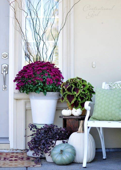 fall decor ideas at front door