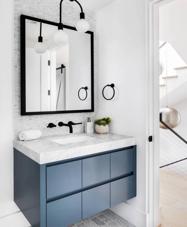 black fixtures trend bathroom