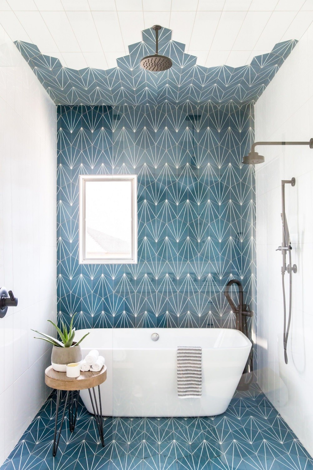 wet room with bathtub and shower trend