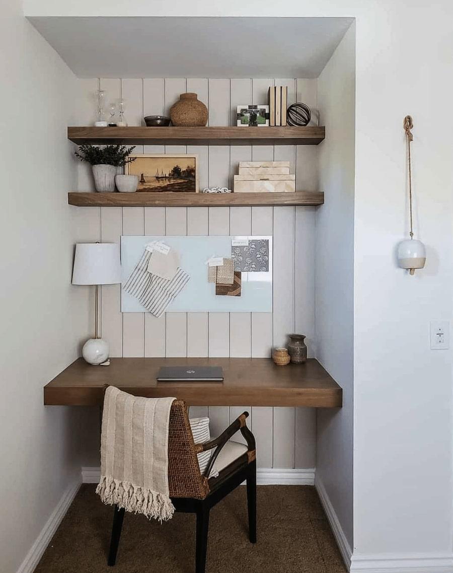 home office built in desk