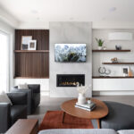 north vancouver fireplace feature wall