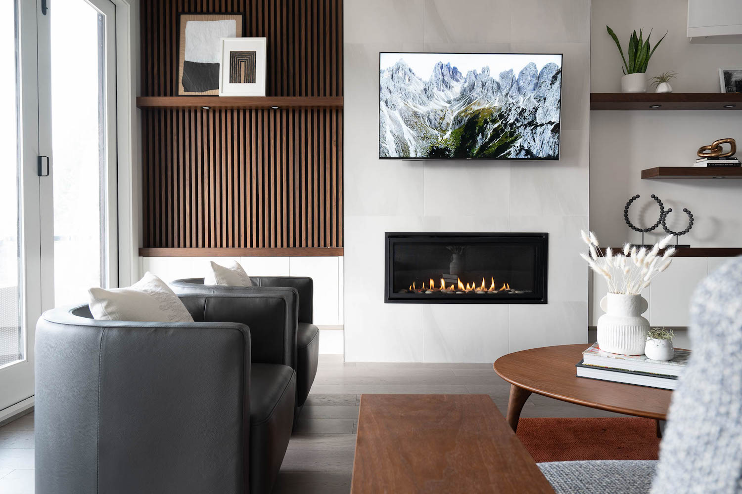 feature wall living room north vancouver