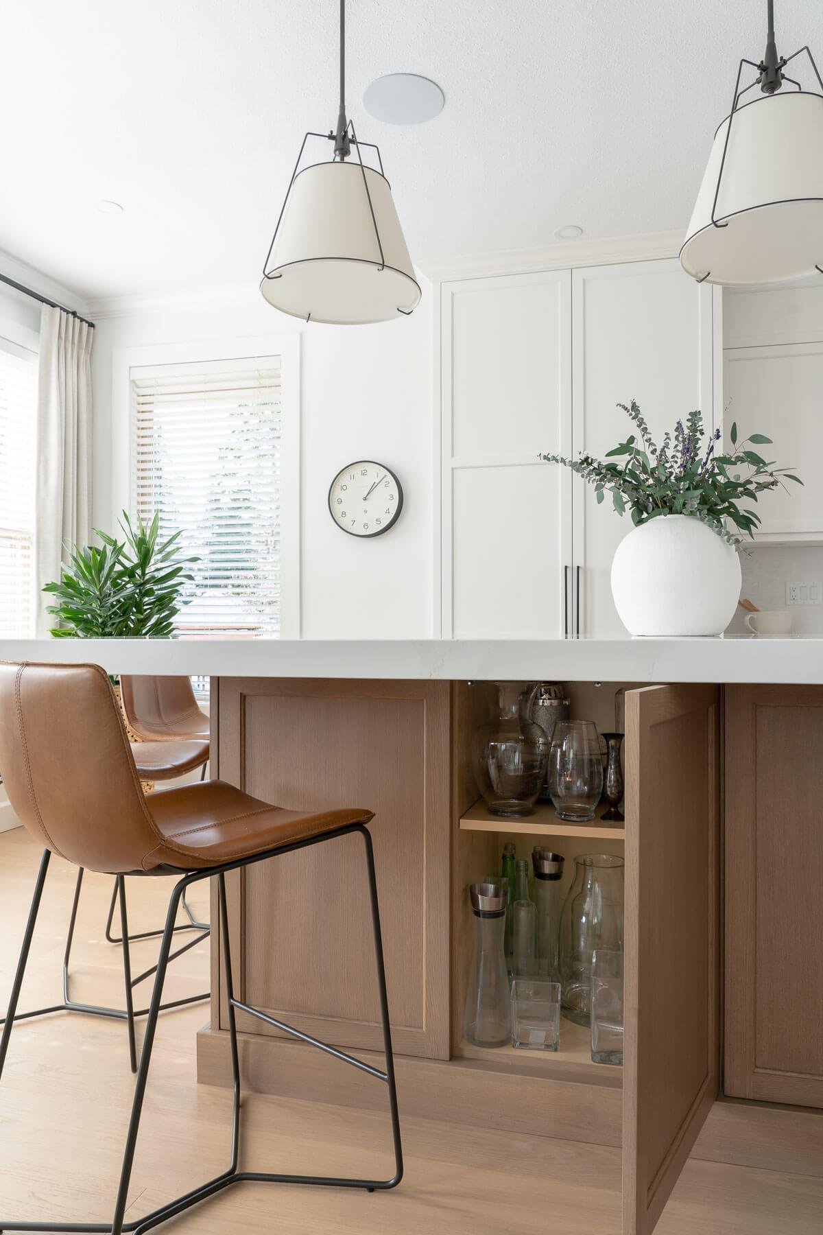 kitchen island hidden storage
