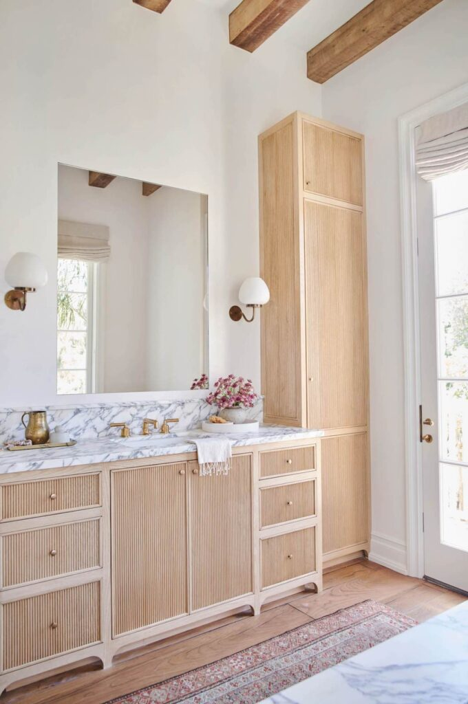reeded vanity and closet