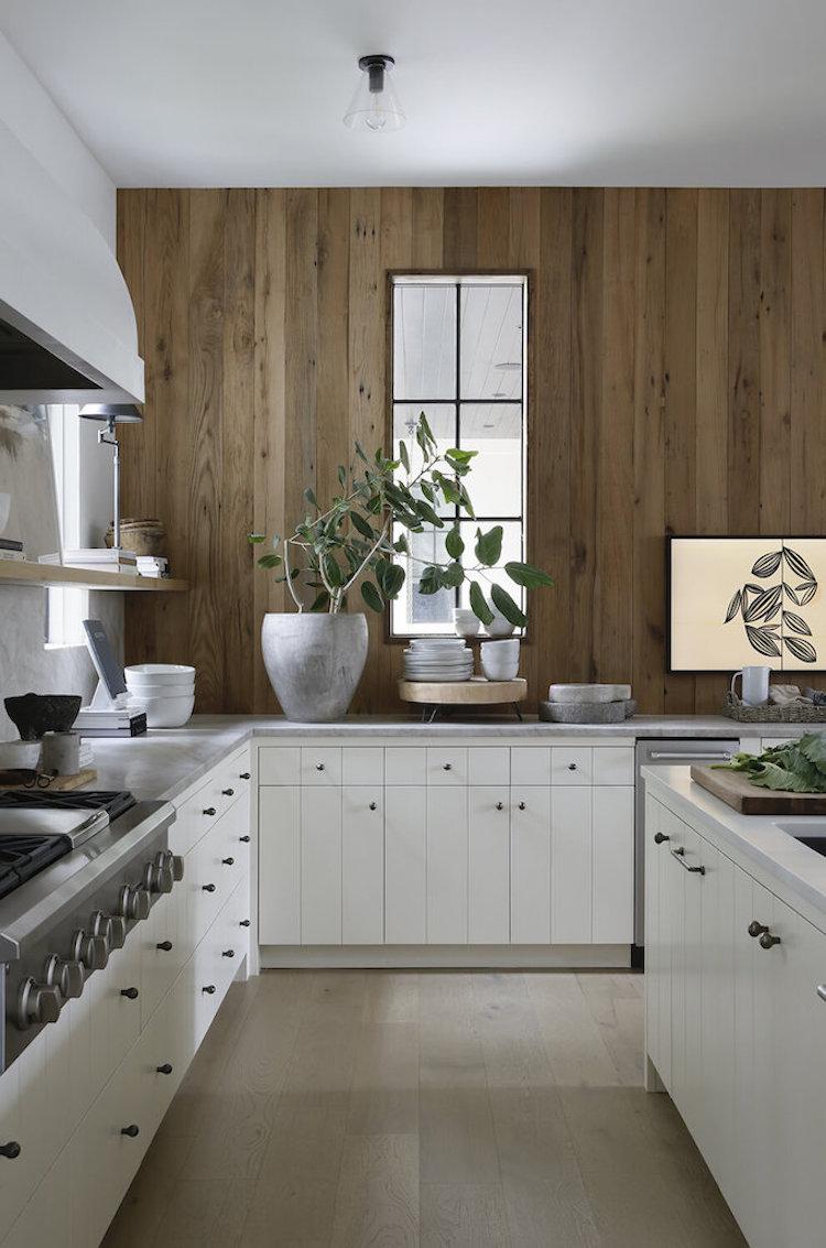wood walls in kitchen