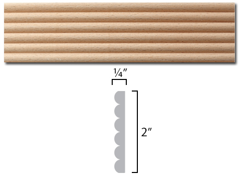 reeded wood profile