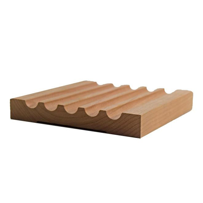 fluted wood casing