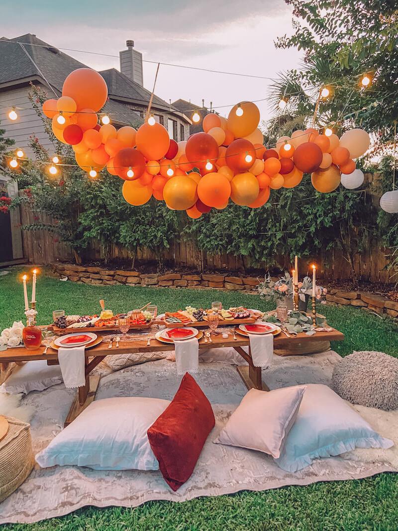 Boho picnic party
