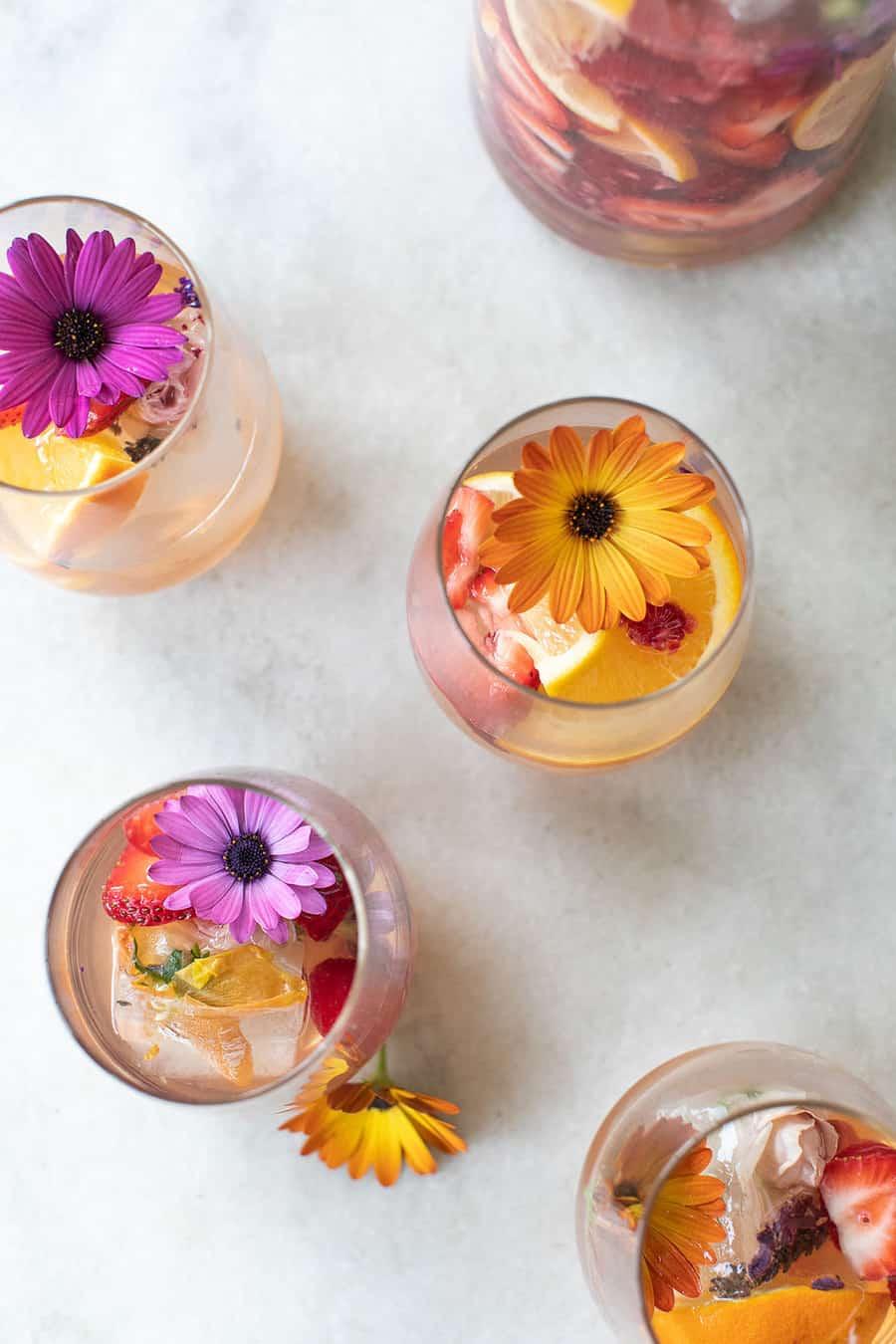 garden dinner party cocktail