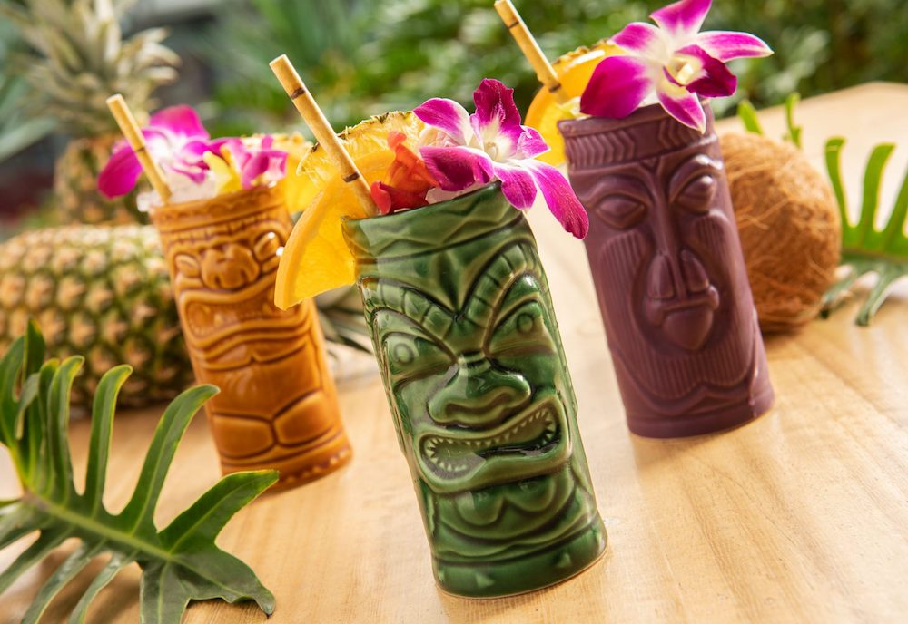 tropical summer party tiki drinks